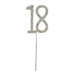 Diamante Number Pick - 18 (1pc)