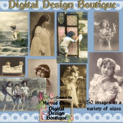 Download - 50 Vintage Women and Children 1