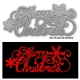 Printable Heaven die - Merry Christmas with Snowflakes (1pc)