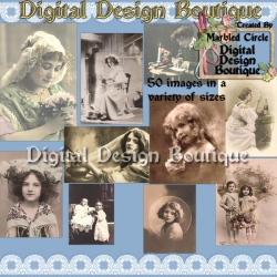 Download - 50 Vintage Women and Children 2