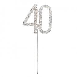 Diamante Number Pick - 40 (1pc)