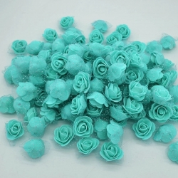 Stemless Foam Rose-heads - Turquoise (50pcs)
