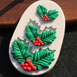 Small Silicone Mould - Holly Leaves