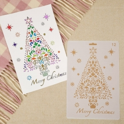 Large Plastic Stencil - Large Christmas Tree (1pc)