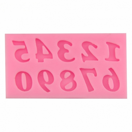 Small Silicone Mould - Small Numbers