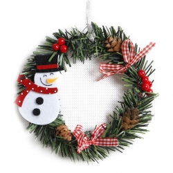 14cm Christmas Wreath - Snowman (1pc)