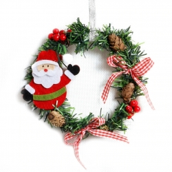 14cm Christmas Wreath - Santa (1pc)