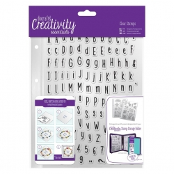 A5 Clear Stamp Set (128pcs) - Alphas Folk (DCE 907115)