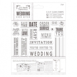 "Clear Stamps - Wedding Sentiments 6 x 6"" (PMA 158901)"