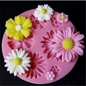 Small Silicone Mould - Daisies