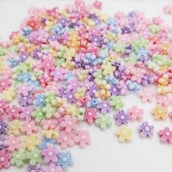Pastel Flower Beads (100pcs)