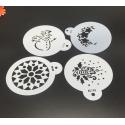 9cm Round Stencil Set - Christmas (4pcs)