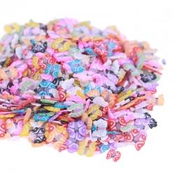 Polymer Clay Confetti Bag - Butterflies