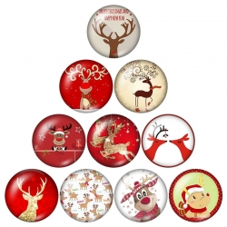Glass Cabochons - Reindeer (10pcs)