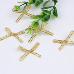 Metallic Ribbon Bows - Gold (50pcs)