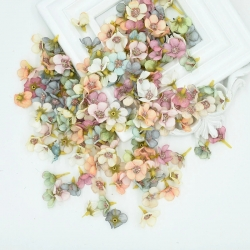 Silk Flower-heads Pastel Multi (50pcs)
