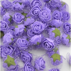Stemless Foam Rose-heads - Purple (50pcs)