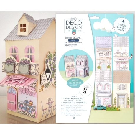 A4 Decoupage Pack - Deco Design, Parisian (PMA 169140)