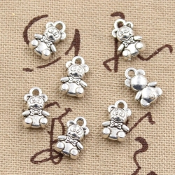 Metal Charms - Teddies (8)