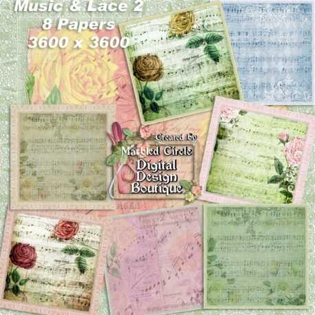 Download - Vintage Music and Lace Papers 2