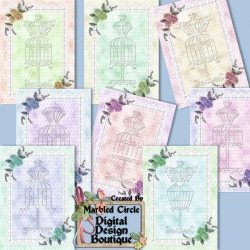 Download - Vintage Victorian Dress Form Notecards