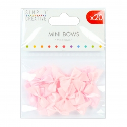 Simply Creative Mini Bows - Pink (SCRBN003)