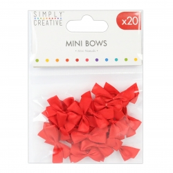 Simply Creative Mini Bows - Red (SCRBN006)