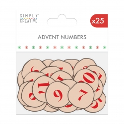 Simply Creative Basics Wooden Advent Numbers (SCWDN022X19)