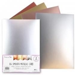 Dovecraft A4 Smooth Metallic card, 8 sheets (DCBS207)
