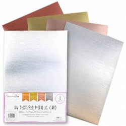 Dovecraft A4 Textured Metallic card, 8 sheets (DCBS208)