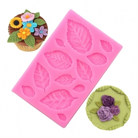 Small Silicone Mould - Leaves
