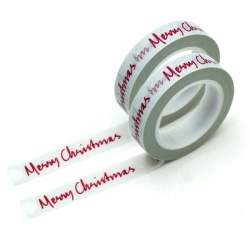 Merry Christmas Tape x 2 rolls (XMA1759)