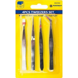 Marksman Stainless Steel Tweezer Set 4pcs (68209C)