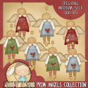 Download - Primitive Angels Clipart