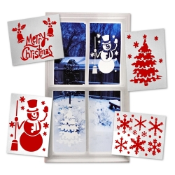 Christmas Window Stencils, 4pcs (XMA1707)
