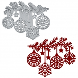 Printable Heaven die - Baubles on Branch (1pc)