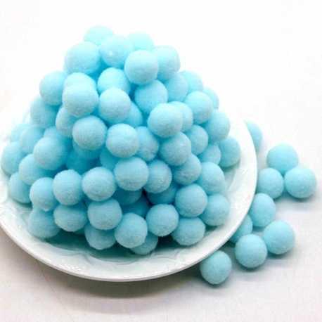 10mm Pom-poms (100 pack) - Baby Blue