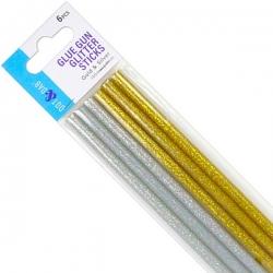 Dot & Dab Glue Gun Glitter Sticks Gold & Silver - Mini 6pk