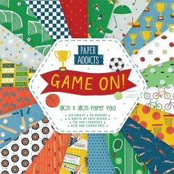 Paper Addicts Game On 10x10cm Paper Pad (PAPAD045)
