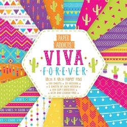Paper Addicts Viva Forever 10x10cm Paper Pad (PAPAD054)