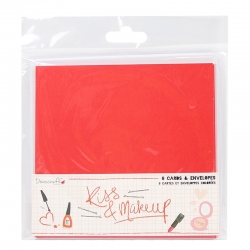 Dovecraft Kiss and Makeup Cards and Envelopes (DCCAE037)