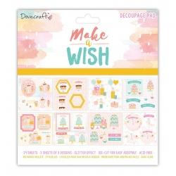 """Dovecraft Make A Wish 8""""x8"""" FSC Glittered Decoupage Pad (DCDPG012)"""