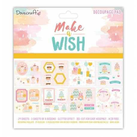 "Dovecraft Make A Wish 8""x8"" FSC Decoupage Pad (DCDPG012)"