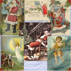 Download - Vintage Christmas Santa and Angel