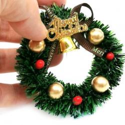 6cm Christmas Wreath - Merry Christmas (1pc)