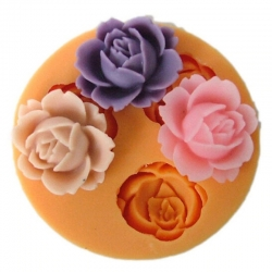 Small Silicone Mould - Rose Trio