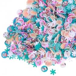 Polymer Clay Confetti Bag - Christmas 2