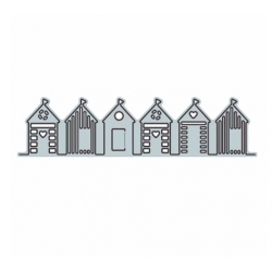 Printable Heaven die - Row of Beach Huts (1pc)