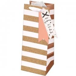 Giftmaker Rose Gold Gift Bag - Bottle (XAJGB63B)