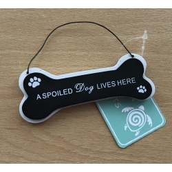 Wooden Bone-Shaped Sign - A Home Without a Dog (TYK9433)